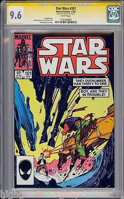 STAR WARS #101 CGC 9.6 WHITE SS STAN LEE SIGNED 2ND HIGHEST GRADED  #1191286001