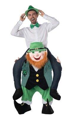 Carry Me Leprechaun Adult Costume Mens St. Patrick's Day Irish Riding Rider - Irish Leprechaun Costume