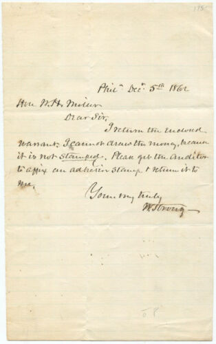 William Strong Autograph Letter Signed