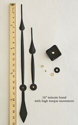 Make or Repair a Large Wall Clock w/ 16 Hands & High Torque Quartz Movement