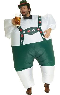 Lederhosen Megamorph Adult Inflatable Costume German Oktoberfest Halloween - Halloween Lederhosen Costume