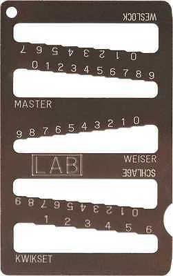 5-in-1 Key Gauge Depth Decoder Locksmith Tool. Schlage Kwikset Master Etc