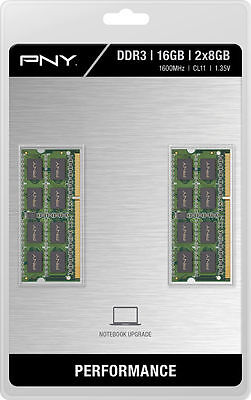 *NEW SEALED* PNY - 2-Pack 16GB PC3-12800L DDR3 SoDIMM Laptop Memory Kit