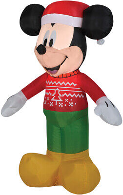 CHRISTMAS SANTA DISNEY MICKEY MOUSE UGLY SWEATER AIRBLOWN INFLATABLE 3.5 FEET