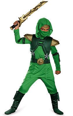 Child Martial Arts Shadow Ninjas Uprising Green Master Ninja Deluxe Costume](Green Ninja Costume Child)