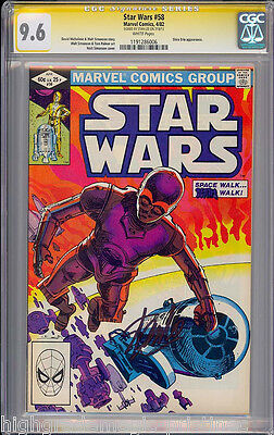 STAR WARS #58 CGC 9.6  WHITE SS STAN LEE SIGNED 2ND HIGHEST GRADED  #1191286006