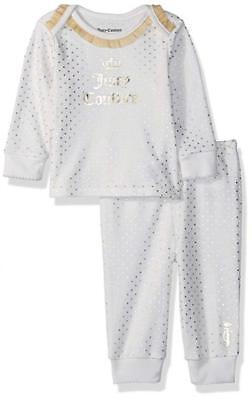 Juicy Couture Infant Girls Vanilla & Gold Layette Pant Set Size 0/3M 3/6M 6/9M - Vanilla Girl