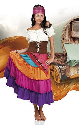 Flamenco Kleid Kostüme (Kleid Zigeuner Damen Spanierin Piratin Gypsy Flamenco Cosplay Fasching Karneval)
