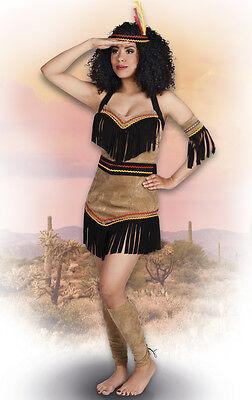 Faschingskostüm Kostüm Damen Indianerin SQUAW EAGLE Gr. - Kostüm Eagle