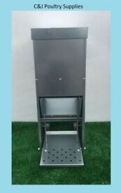 NEW GALVANISED CHICKEN POULTRY DUCK TREADLE FEEDERS 8.5 KILO QUALITY MADE