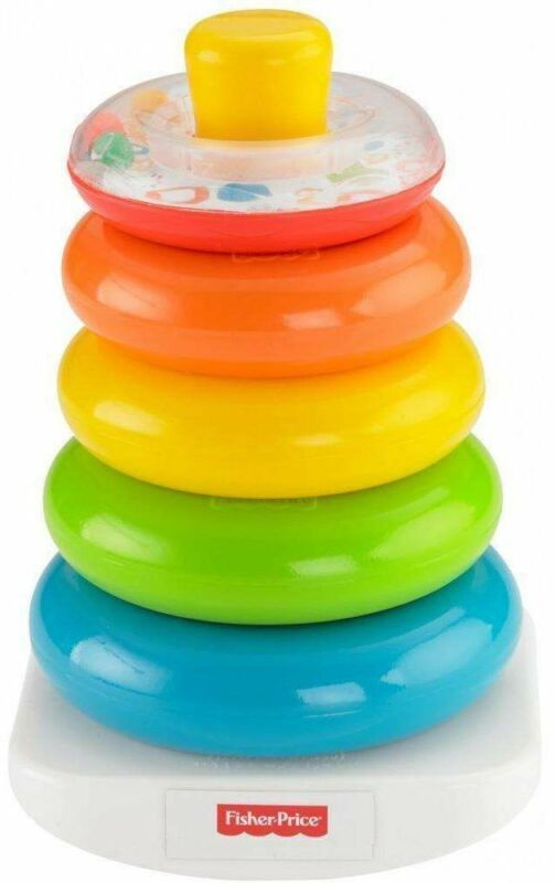 Fisher-Price Rock-a-Stack Classic with 5 Colorful Rings Development Toy