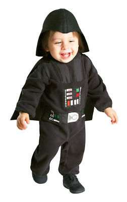 Star Wars Darth Vader Child Costume Toddler 2T-3T Headpiece Fleece Romper Cape