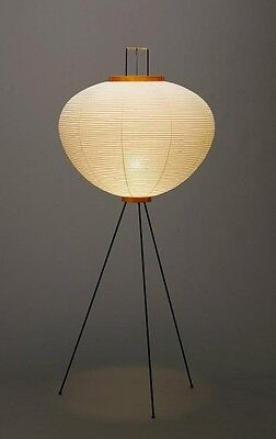 Isamu Noguchi AKARI 10A Stand Light Lamp whole set handcraft Japan New
