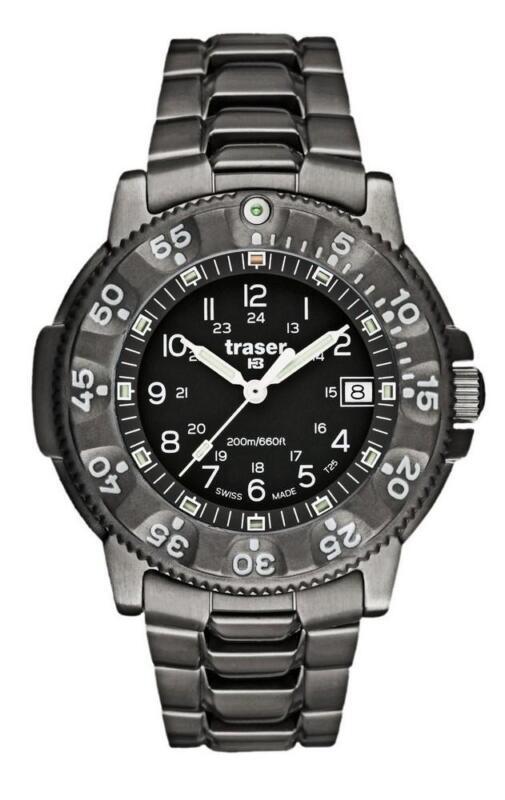 traser swiss H3 watch 100308 P6506 Commander 100 Force tritium titanium