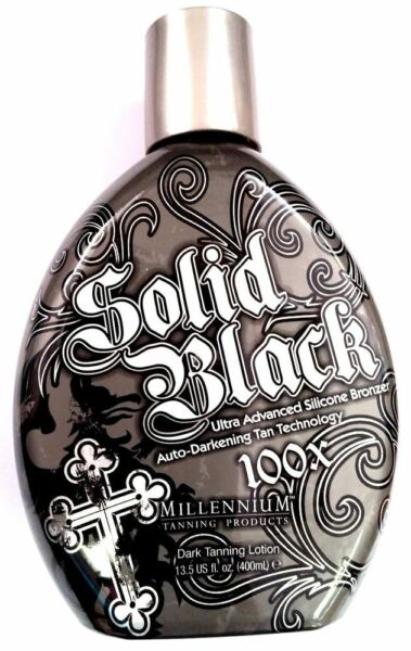 Millennium SOLID BLACK 100X Dark Tanning Lotion 13.5 oz 1