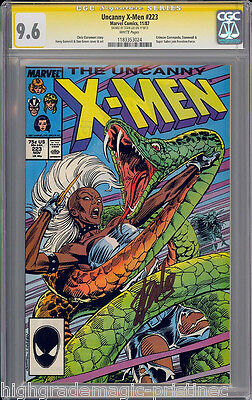 UNCANNY X-MEN #223 CGC 9.6 WHITE SS STAN LEE SIGNED SIG SERIES CGC #1183353024