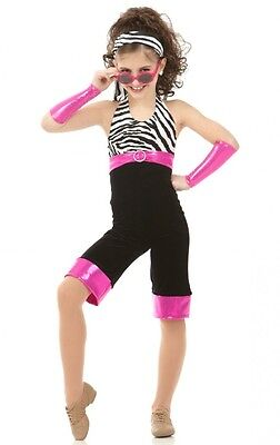 Hollywood Dance Costume Capri Unitard w/Mitts Headpiece Child X-Small 2-3yr New](Kids Hollywood Costumes)