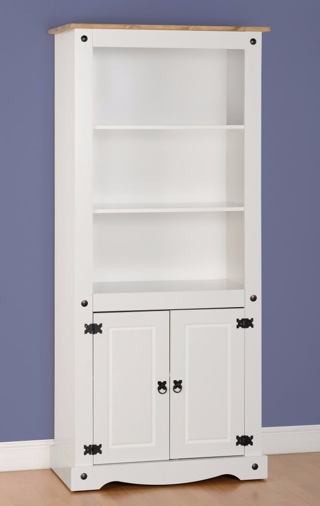 New Corona Tall 2 door bookcase only £159 white only