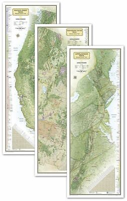 National Geographic Triple Crown of Hiking - 3 Wall Maps 18