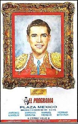 BULLFIGHT PROGRAM Plaza De Toros --Mexico 1995 Original