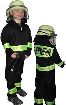 Feuerwehruniform Feuerwehr Karneval Kinder Kostüm + Feuerwehrhelm - Feuerwehr Kostüm
