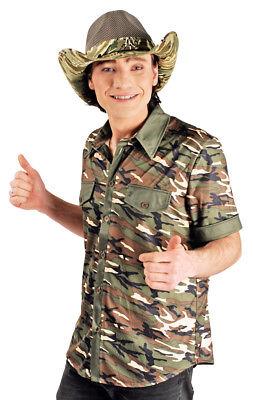 Safari Shirt Manuel für Herren Camouflage Armee Army Ranger Dschungel - Army Kostüm Für Herren