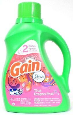 1 Gain Febreze Freshness Thai Dragon Fruit Laundry Detergent 48 Loads 100 oz