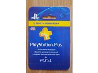 Official SONY Playstation Plus 365 Days UK Card - PSN 12 Month Code - 1 Year Key
