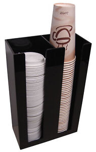 Coffee Cup lid Holder Dispenser Organizer caddy coffee counter display rack 2sl