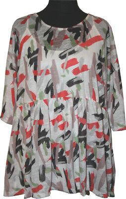 48//50-52//54 beige mit Leinen Anteil 749 Apart Pulli Pullover Shirt Gr