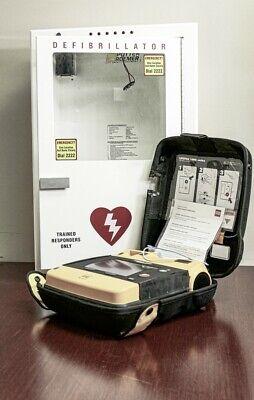 Lifepak 1000 Vital Signs Monitors External Cardiac Defibrillator With Cabinet