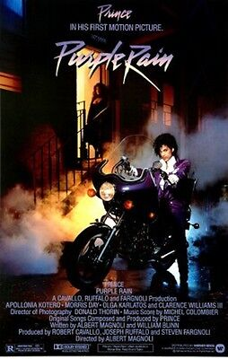 Prince Purple Rain Movie Music Poster Print 1984, New, 24x36