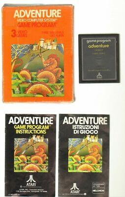 ADVENTURE Videogioco Atari 2600 ITA con Manuale e Scatola anno 1980. Melchioni