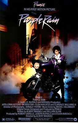 PRINCE PURPLE RAIN MOVIE POSTER NEW 24X36 FREE SHIPPING