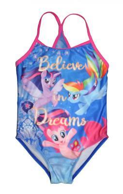 My Little Pony Movie Girls One Piece Swimsuit Size 4 5/6 6X](Pony Girls)