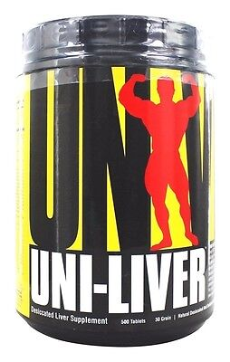 Universal Nutrition Uni Liver High Protein Desiccated Liver 500 Tabs Muscle Food