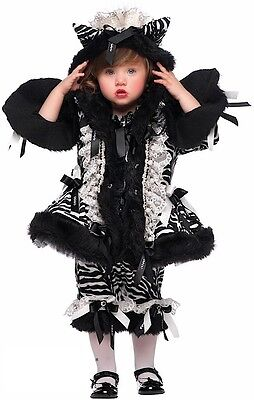 Italian Made Baby Older Girls Zebra Pageant Halloween Fancy Dress Costume - Older Girls Halloween Costumes