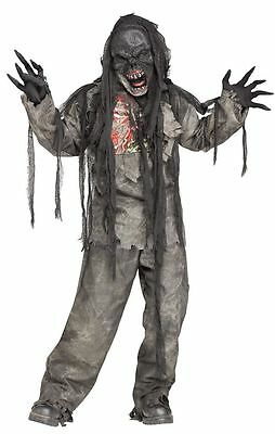 Burning Dead Zombie Costume for Kids size 8-10 & 12-14 New by Fun World - Zombie Costumes For Children