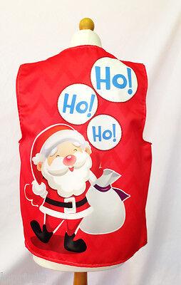 Santa Hoe Hoe Hoe Rot Sack Weihnachten Weste Kostüm Neuheit Geschenkidee Party