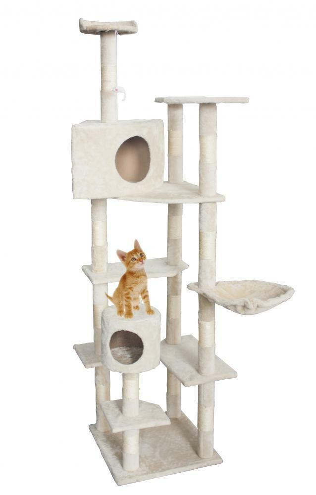 "New Cat Tree 80"" Condo Furniture Scratching Post Pet Cat Kitten House T72"