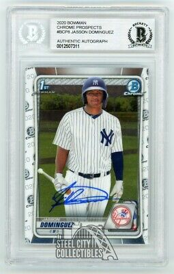 Jasson Dominguez 2020 Bowman Chrome Prospects Autographed Rookie Card #BCP8 BAS