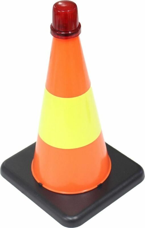 Safety Temporary Flashing Traffic Cone (Pack of: 1) - FL-87010