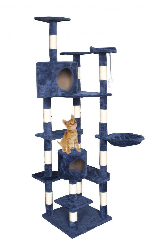 New Cat Tree 80″ Condo Furniture Scratching Post Pet Cat Kitten House T72