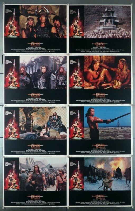 CONAN THE BARBARIAN (1982) 4485  Arnold Schwarzenegger as Conan  Eight Original
