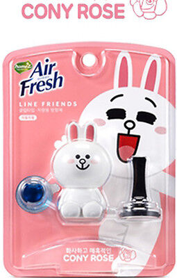 [Line Friends] Cony Characters Car Vent Clip Air Freshener_Aromatic Rose Scent
