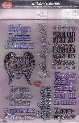 Motivstempel Clearstamps Silikonstempel Sprüche Nr.II Texte Viva-Decor 400314300