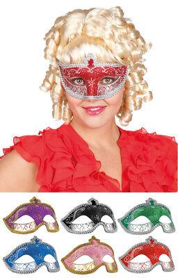Glitzer Augenmaske Valentina zum Barock Rokoko Party Kostüm Maskenball Venedig