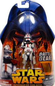 BNIB Clone Commander Battle Gear Red Variant No. 33 Star Wars Revenge of the Sith Collection HASBRO