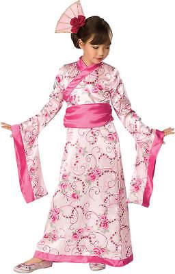 Asian Prinzessin Geisha Kinder Karneval Fashing Kostüm (Geisha Kostüm Kind)