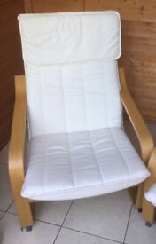 Two IKEA Poang chairs